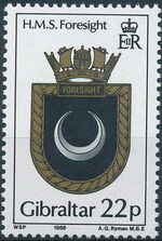Gibraltar 1988 Royal Navy Crests 7th Group b