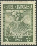 Indonesia 1954 Surtax for Victims of the Merapi Volcano Eruption g