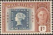 Mauritius 1948 Centenary of the 1st Mauritius Postage Stamp d