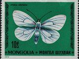 Mongolia 1977 Butterflies and Moths