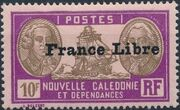 "New Caledonia 1941 Definitives of 1928 Overprinted in black ""France Libre"" zh"