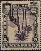 Nyassa Company 1901 D. Carlos I (Giraffe and Camels) o