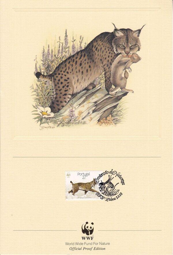 Portugal 1988 WWF Iberian Lynx (Lynx pardina) OPEb