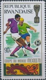 Rwanda 1970 Football World Cup - Mexico h