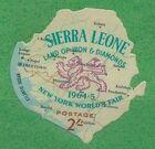Sierra Leone 1964 New York World's Fair - Regular Stamps f