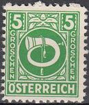 Austria 1945 Posthorn d