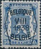 Belgium 1938 Coat of Arms - Precancel (8th Group) f