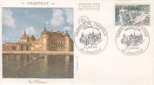 France 1969 Tourism - Chantilly Castle FDCa