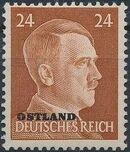 German Occupation-Russia Ostland 1941 Stamps of German Reich Overprinted in Black l