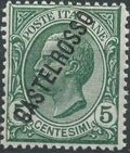 "Italy (Aegean Islands)-Castelrosso 1924 Definitives of Italy - Overprinted ""CASTELROSSO"" a"