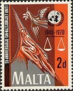 Malta 1970 25th Anniversary of the United Nations a