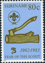 Surinam 1983 75 Years Of Scouting d