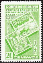Bolivia 1942 First Students' Philatelic Exhibition c