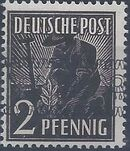 British and American Zone 1948 Overprinted with Posthorn Ribbon a