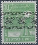 British and American Zone 1948 Overprinted with Posthorn Ribbon d