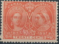 Canada 1897 60th Year of Queen Victoria's Reign j