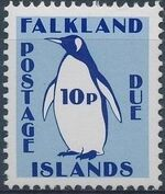 Falkland Islands 1991 Penguins (Postage Due Stamps) f