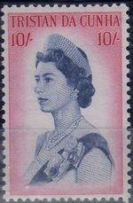 Tristan da Cunha 1965 Queen Elizabeth II and Ships m