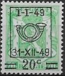 Belgium 1949 Coat of Arms, Precanceled and Surcharged d