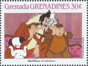 Grenada Grenadines 1988 The Disney Animal Stories in Postage Stamps 3d