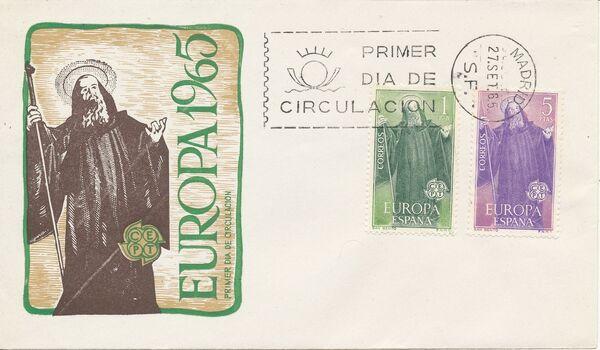 Spain 1965 Europa FDCb