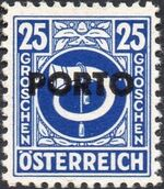 Austria 1946 Occupation Stamps of the Allied Military Government Overprinted in Black i