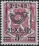 Belgium 1949 Coat of Arms, Precanceled and Surcharged c