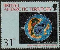British Antarctic Territory 1991 Antarctic Ozone Hole c
