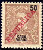 Cape Verde 1911 D. Carlos I Overprinted g