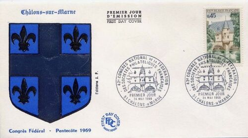 France 1969 42nd Congress of the Federation Philatelic Societies FDCb