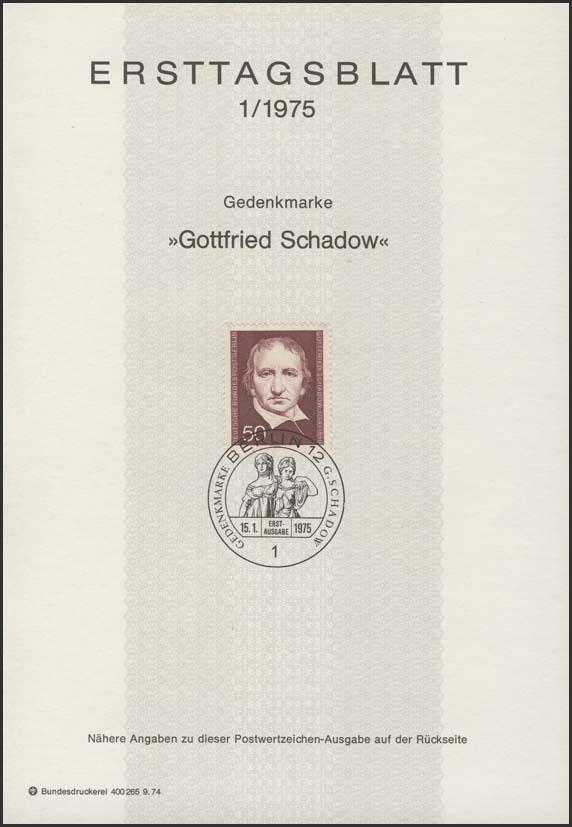 Germany-Berlin 1975 125 Years of the Death of Gottfried Schadow IOPa