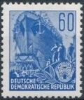 Germany DDR 1953 Workers For The Five-year Plan p