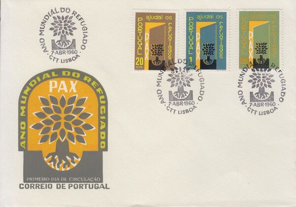 Portugal 1960 International Year of Refugees FDCa