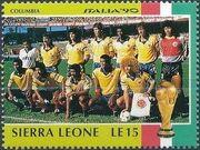 Sierra Leone 1990 Football World Cup in Italy a