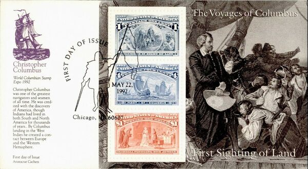 United States of America 1992 Voyages of Columbus FDCa