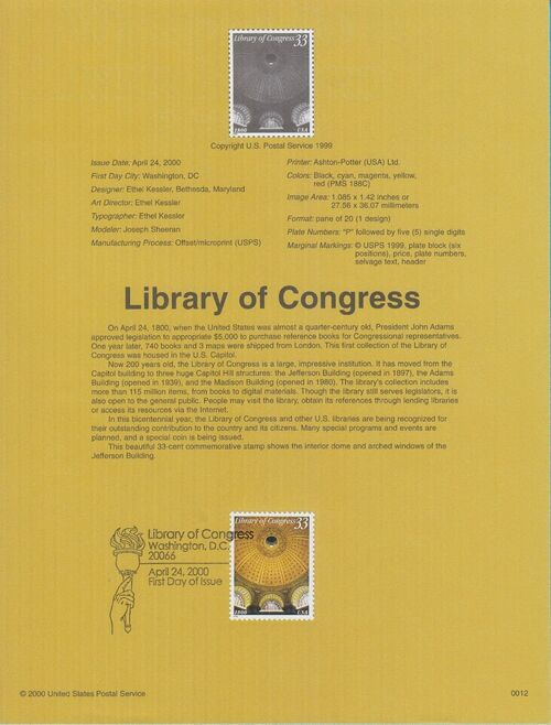 United States of America 2000 Library of Congress IOPa