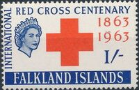 Falkland Islands 1963 100th Anniversary of Red Cross b