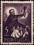 Portugal 1952 400th Anniversary of the Death of St. Francis Xavier d