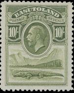 Basutoland 1933 George V, Crocodile and River Scene j