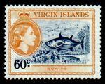 British Virgin Islands 1956 Queen Elizabeth II and Views j