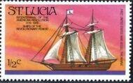 St Lucia 1976 200th Anniversary of American Revolution - Revolutionary Era Ships a