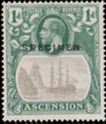 Ascension 1924 Seal of the Colony n