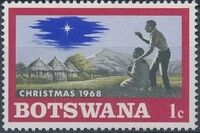 Botswana 1968 Christmas a