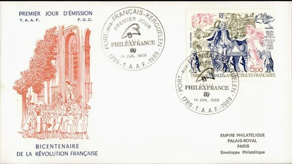 French Southern and Antarctic Territories 1989 Bicentenary of the French Revolution FCa