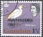 Gambia 1965 Birds Overprinted c