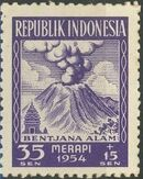 Indonesia 1954 Surtax for Victims of the Merapi Volcano Eruption b