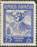 Indonesia 1954 Surtax for Victims of the Merapi Volcano Eruption d