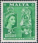 Malta 1956 Elizabeth II o