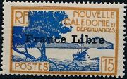 "New Caledonia 1941 Definitives of 1928 Overprinted in black ""France Libre"" g"