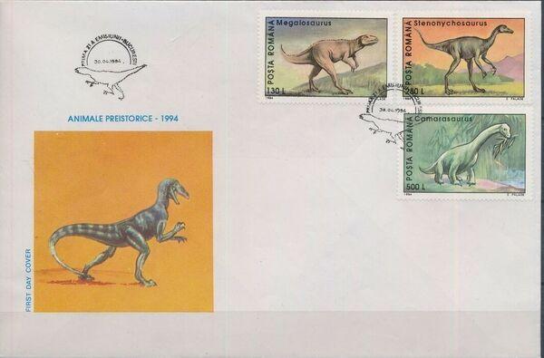 Romania 1994 Dinosaurs FDCb